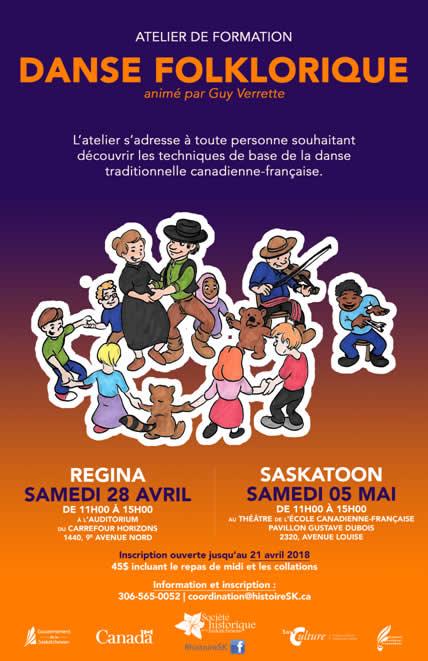 Atelier de danse traditionnelle canadienne-française