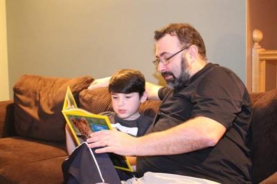 Noah Giroux et son père Daniel
