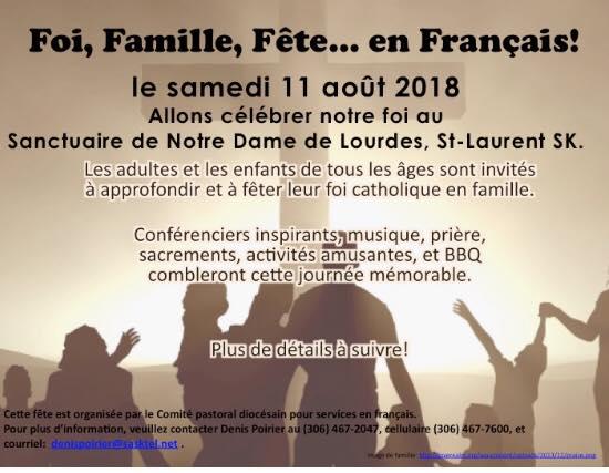 Foi, famille, fête... en français