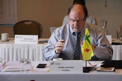 Le président de l'Assemblée communautaire fransaskoise, Roger Gauthier
