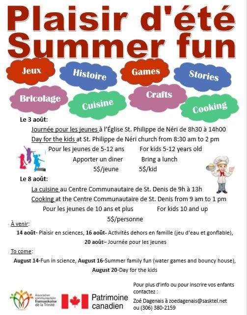 Activités d'été à St-Denis