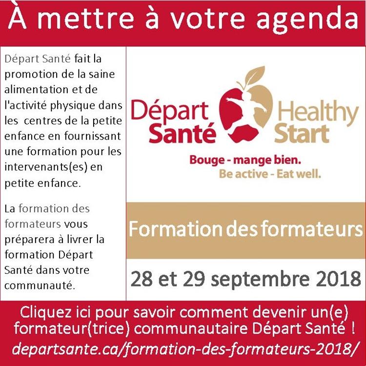Départ santé : formation des formateurs 2018