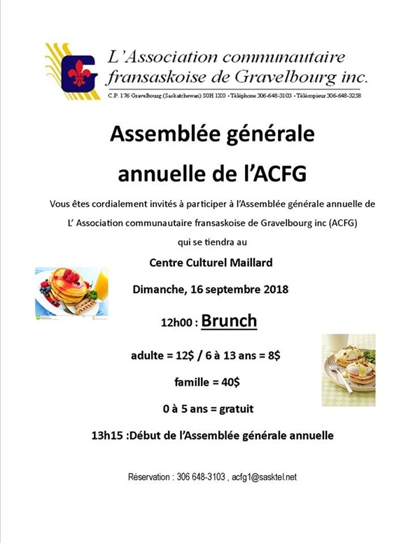 Brunch et AGA 2018