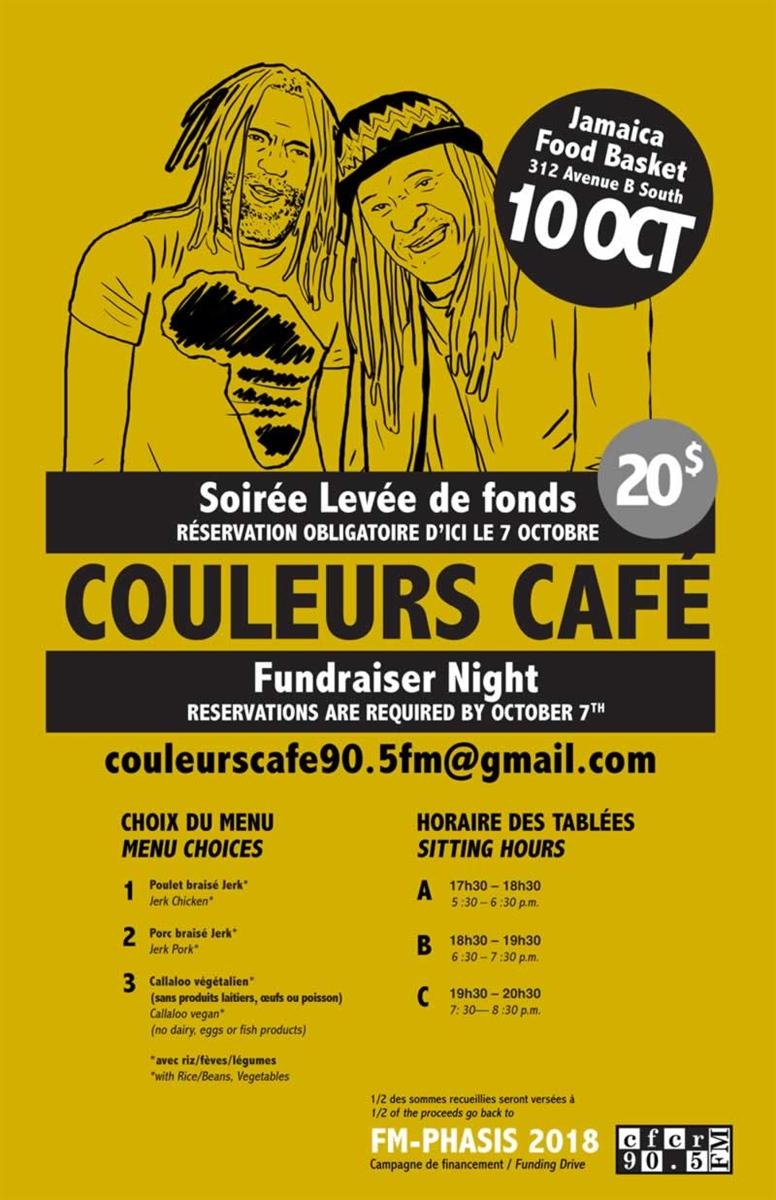 Soirée de levée de fonds pour Couleurs Café