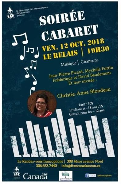 Soirée Cabaret avec Christie-Anne Blondeau