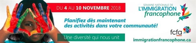 Semaine de l'immigration francophone 2018