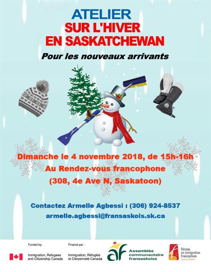 Atelier sur l'hiver en Saskatchewan pour les nouveaux arrivants