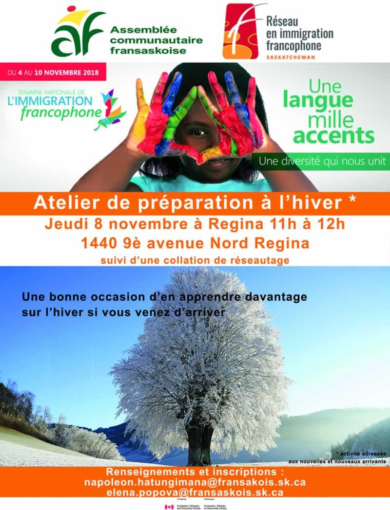 Atelier de préparation à l'hiver à Regina
