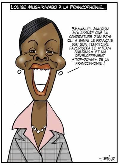 Louise Mushikiwabo, Louise Mushikiwabo, ministre des Affaires étrangères du Rwanda, élue par consensus comme secrétaires générale de l'Organisation internationale de la francophonie