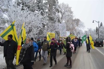 Marche de solidarité avec la communauté franco-ontarienne