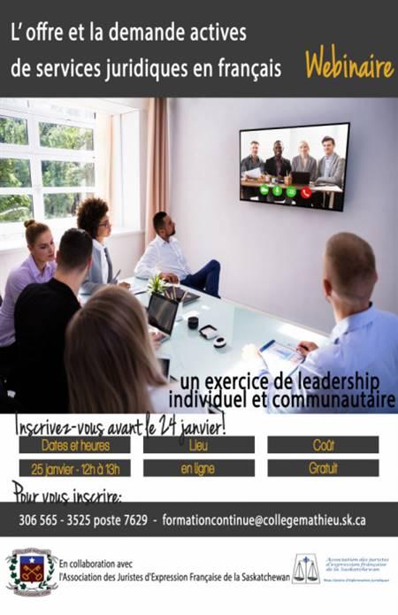 Webinaire sur services juridique en français
