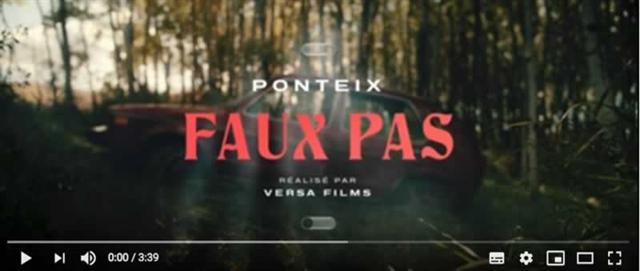 Faux pas - Vidéoclip de Ponteix