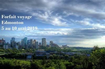 Forfait voyage Edmonton 2019