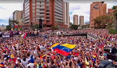 Manifestation à Caracas le 23 janvier 2019