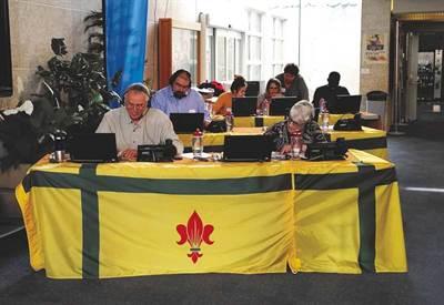 Sprint final du Francothon 2019 dans les locaux de Radio-Canada
