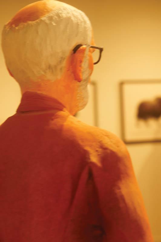 Statuette de Joe Fafard à la Slate Gallery
