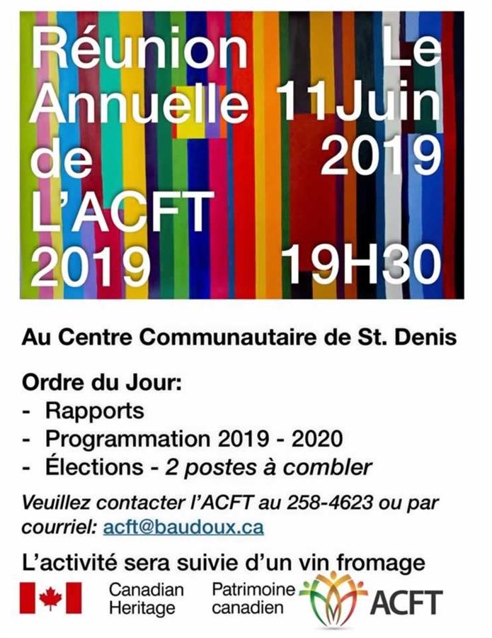 AGA 2019 de l'ACFT