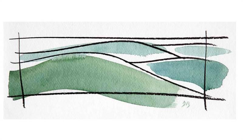 Lignes de fuite - Aquarelle