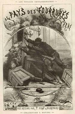 Illustration du livre Le Pays des Fourrures de Jules Vernes