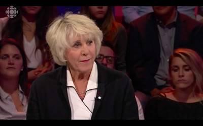 Denise Bombardier sur le plateau de Tout le monde en parle, le 6 octobre 2019