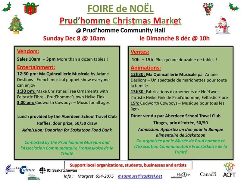 Foire de Noël à Prud'homme
