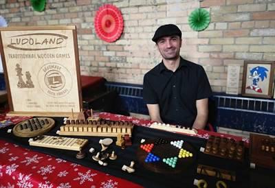 Cédric Delaveau au marché de Noël de Regina