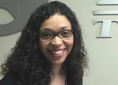 La présidente de la CAFS, Céline Moukoumi