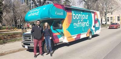 La caravane de Bonjour My Friend était de passage en Saskatchewan
