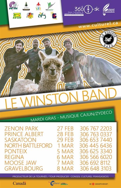 Le Winston Band - Tournée saskatchewanaise 2020