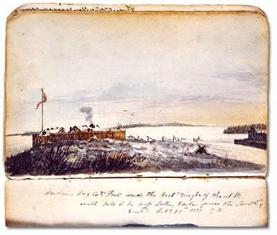 Fort de l'Île-à-la-Crosse en 1820