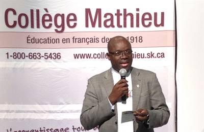 Le directeur du Collège Mathieu, Francis Kasongo