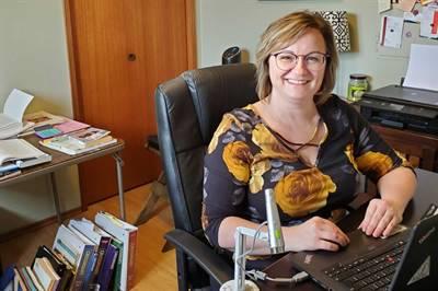 Colette George, enseignante à l'école de Bellegarde
