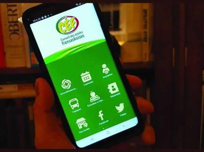 Application du CÉF pour téléphones intelligents