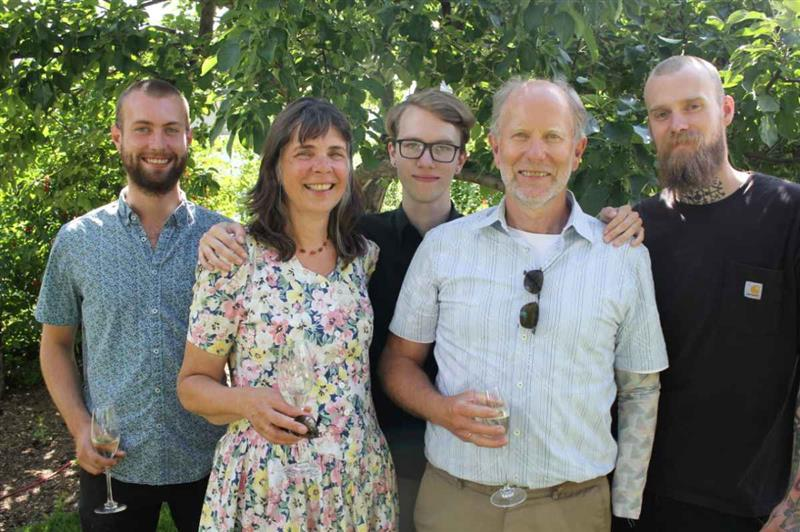 Margret Asmuss et sa famille